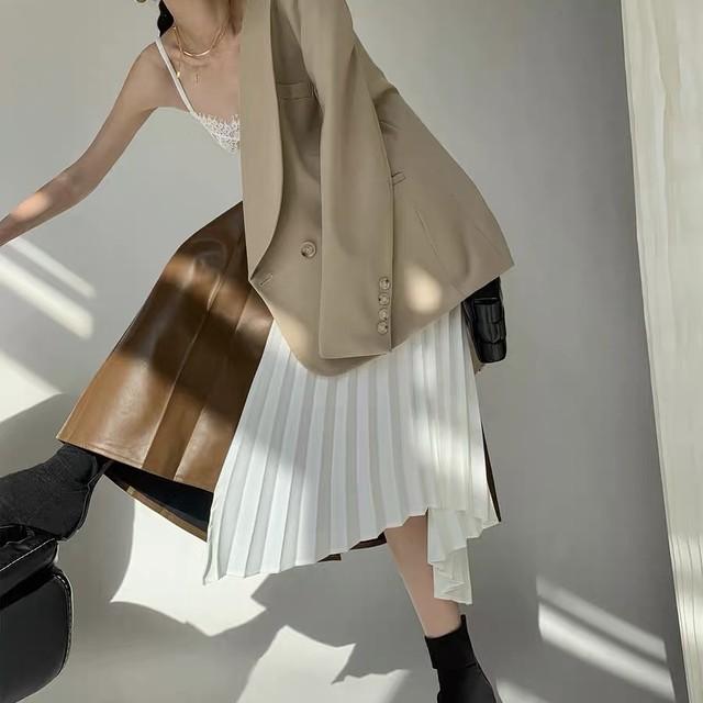 half leather skirt