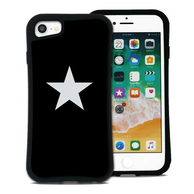 スター ブラック×ホワイト セット WAYLLY(ウェイリー) iPhone 8 7 XR XS X 6s 6 Plus XsMax対応!_MK_