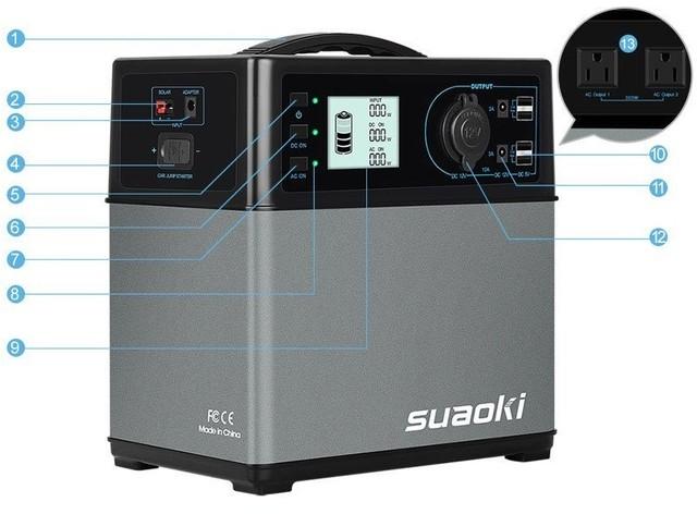 【防災:停電対策】コンセント2個付き ポータブル電源 100V/120000Ah(USBポート4つ/スマホ40回充電可能)