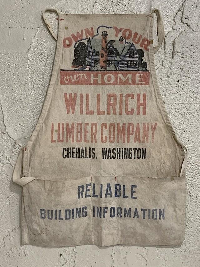 "WORK APRON "" WILLRCH LUMBER COMPANY """