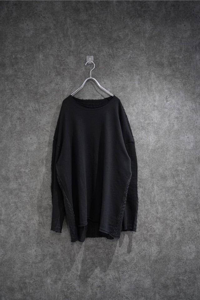℃℃℃ Front and back Switch knit Black