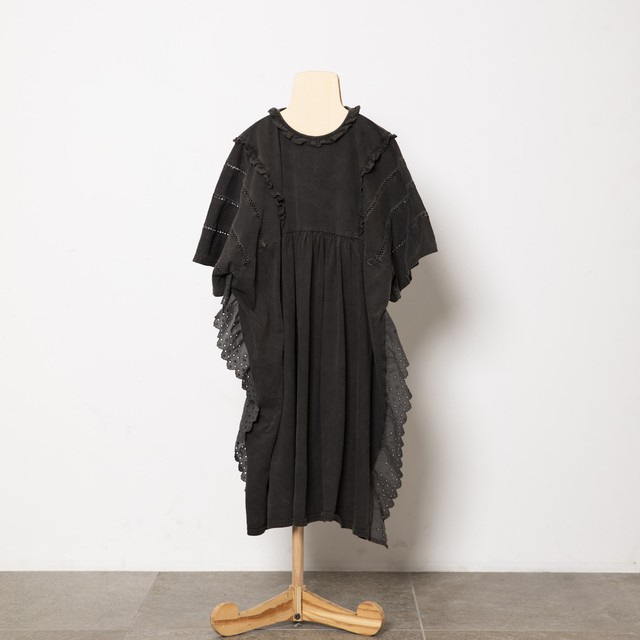 folk made fairy lace dress (black) M・Lサイズ F21SS-023
