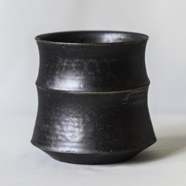 Roughness Black Plants Pot(No,19)※LARGE
