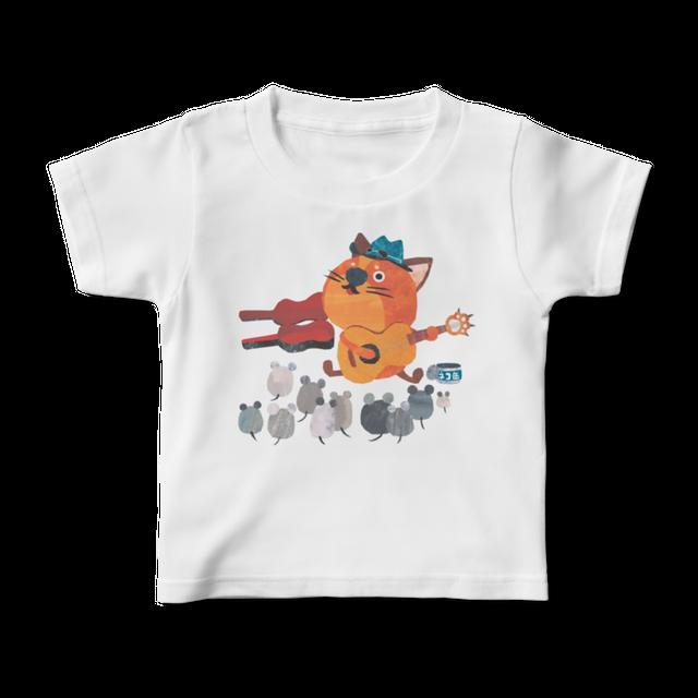 前面プリントイラストキッズTシャツ 『ギターケン』