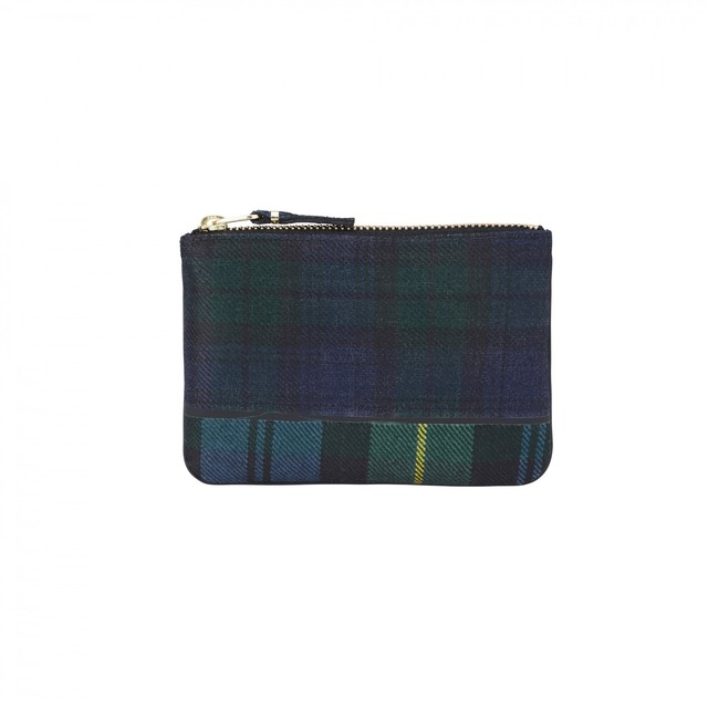 WALLET COMME des GARCONS【ウォレットコムデギャルソン】Tartan Patchwork POUCH (GREEN)