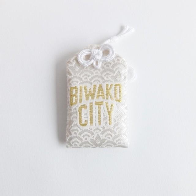 【販売中】大野神社 × -CONNECT- / BIWAKO CITY / 安全御守 / グッズ / ホワイト