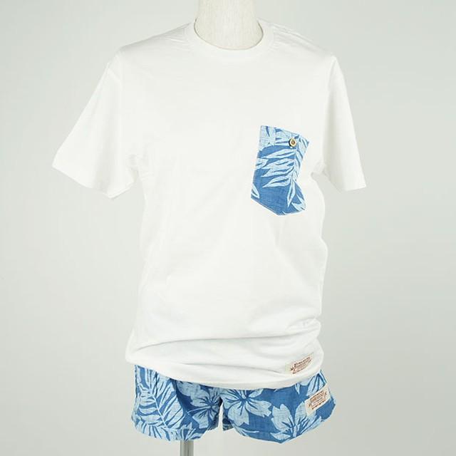 レディース Tシャツ&パンツセット ブルー(サイズS)/Wahine-KA-PUA-W1112-2SET BL S