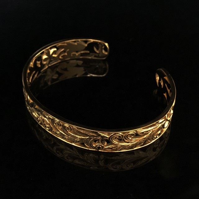 24kgp Hawaiian jewelry bangle(skeleton)