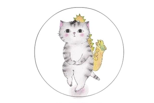 サックス猫のシール