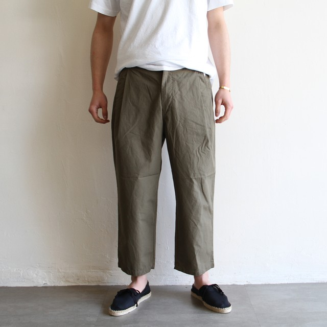 STILL BY HAND【mens】cotton  gabar pants
