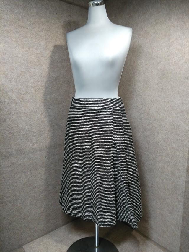 Sybilla シビラ スカート ツイード 白 黒 M mh332s
