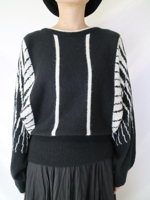 dolmansleeve design sweater【0620】