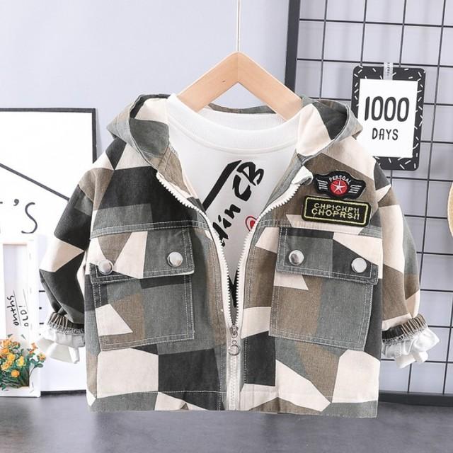 【アウター】ファッションフード付きカジュアルトレンチコート26638033