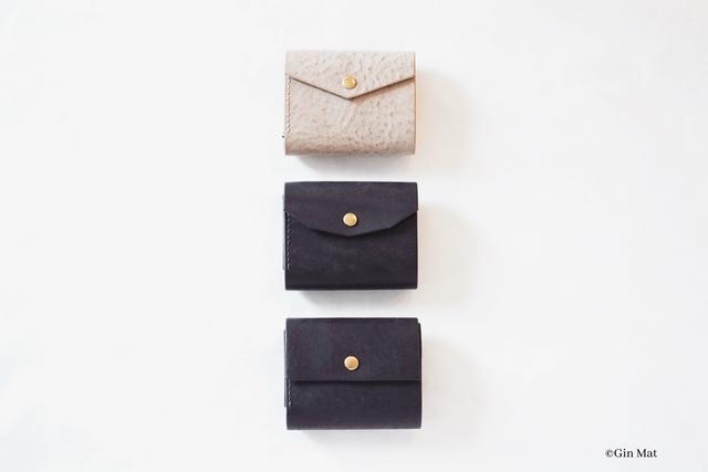 【セミオーダー作品 T様】小さなお財布 < blue >