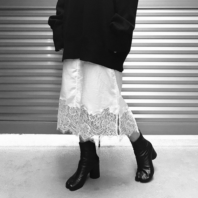 【WOMENS - 1 size】LACE SKIRT / White