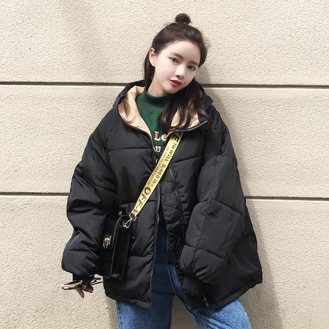 【アウター】韓国系長袖フード付きジッパー綿コート23314535