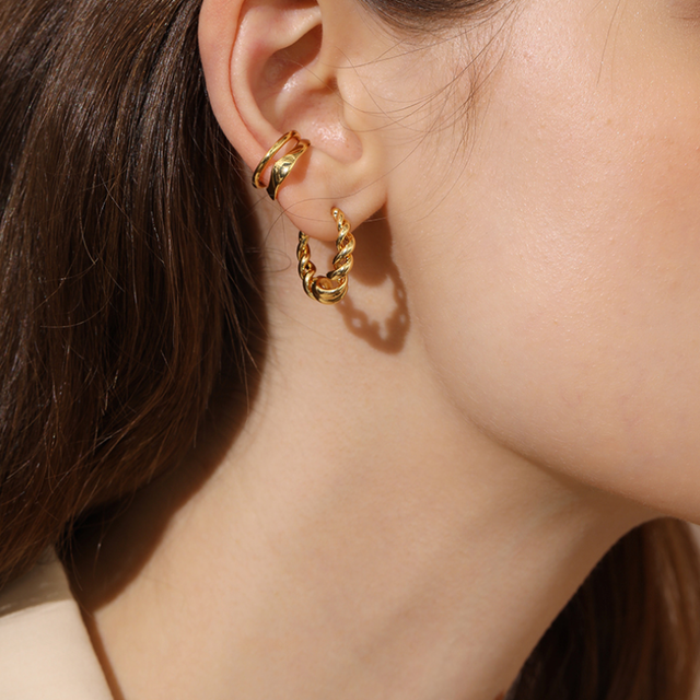 「order」double layer ear cuff gold/silver c002