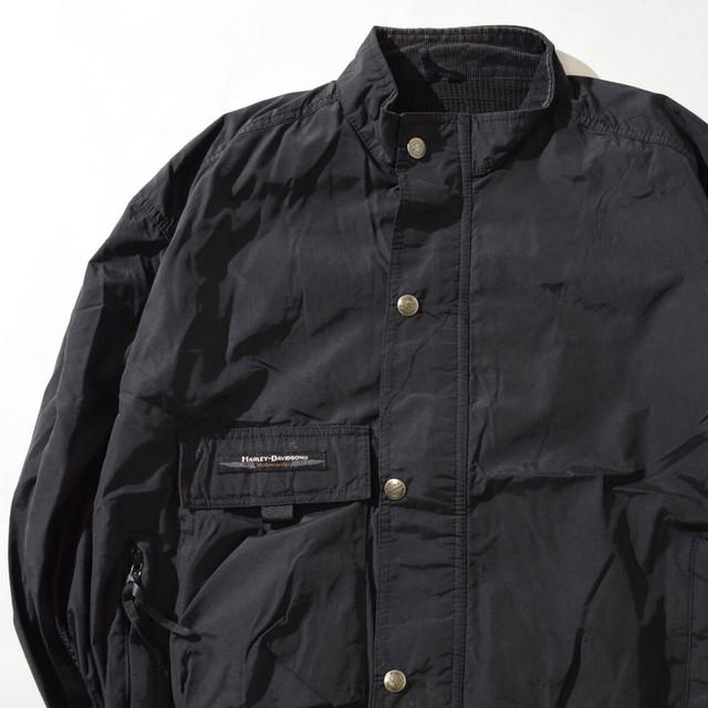 【Lサイズ】HARLEY DAVIDSON ハーレ—ダビッドソン MOTORCYCLE JKT ジャケット BLK ブラック FREE 400610191273