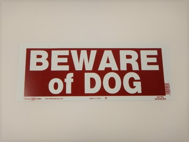 品番LK-019 標識 / Sign [BEWARE of DOG]