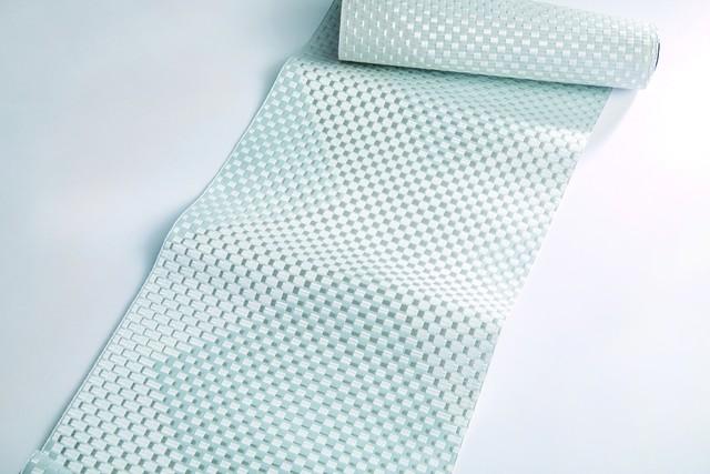 白地小市松菱形模様八寸帯 - 西村織物 -