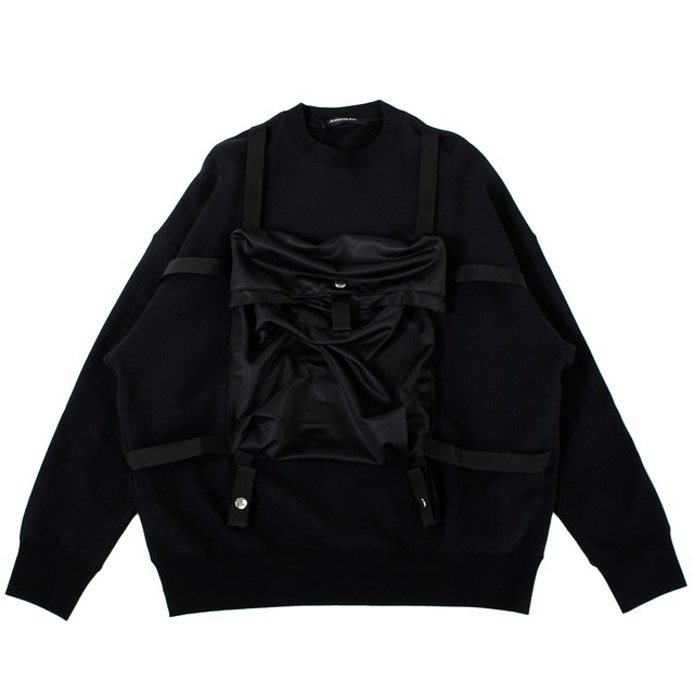 ALMOSTBLACK Front Pocket Sweat Tops