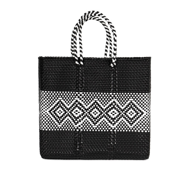 MERCADO BAG DIAMOND LINE-Black (M)