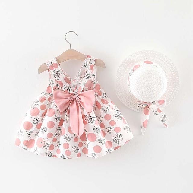 ベビー服 ワンピース 帽子付き 赤ちゃん 乳児 お出かけ キッズ 女の子 ピンク オレンジ イエロー 73 80 90 100