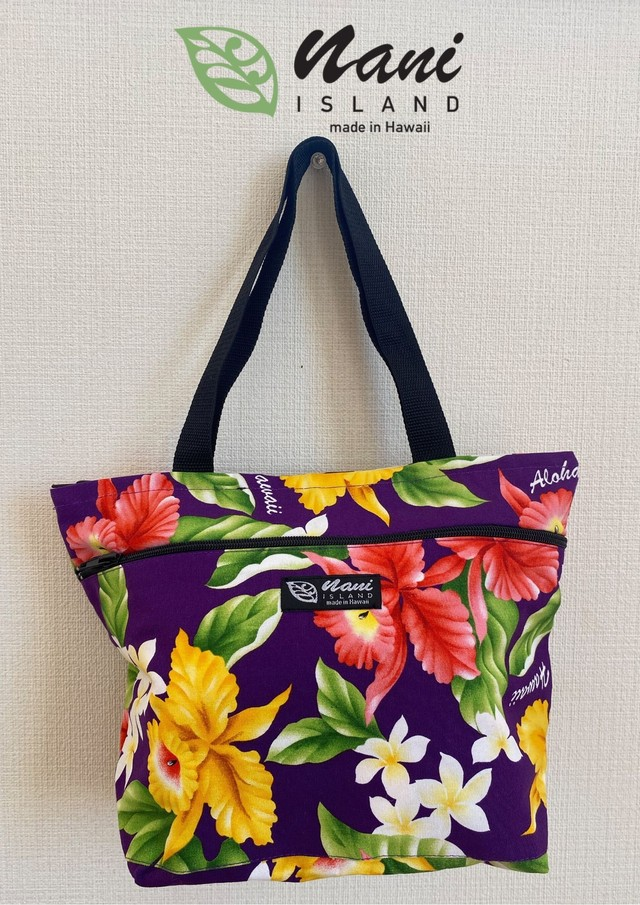 nani island tote bag zipper