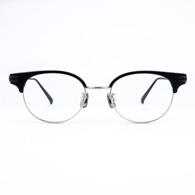 one/three compound frame ワンスリー メガネ cfs-01 / 00s ブラック/シルバー