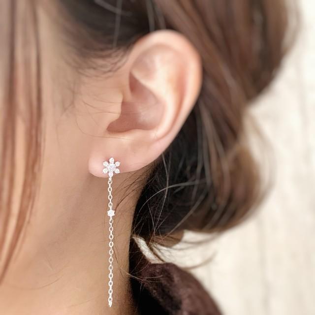 【JORIE】FLOWER DROP silver925 earrings