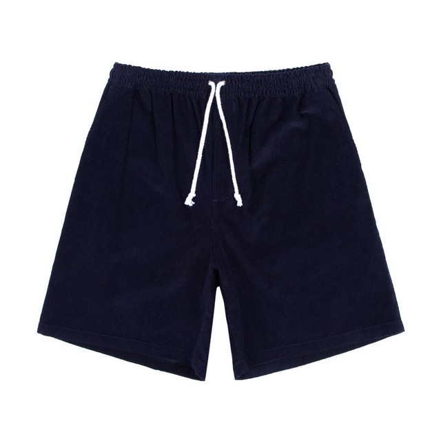 Cord Drawstring Shorts(Navy)