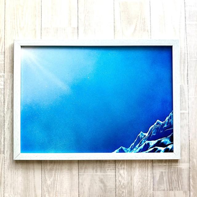 「Unexplored(未踏)」 可愛らしい真四角キャンバス お部屋と生活を彩るインテリアパネル風景画