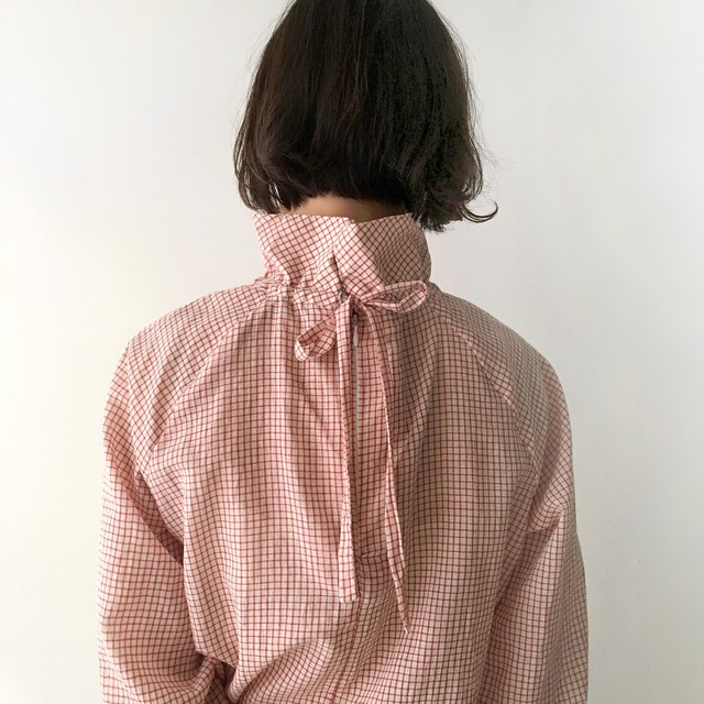 High Neck Gather Blouse