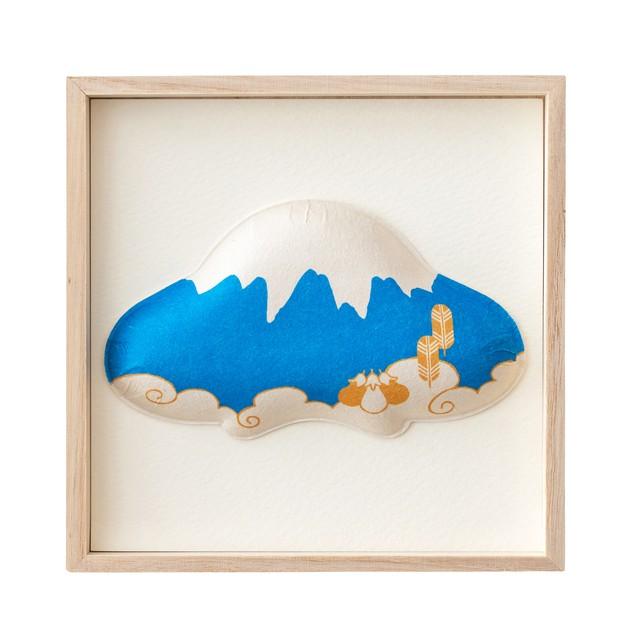 お正月 和紙の縁起物 1種飾り 富士山 F01-MA006