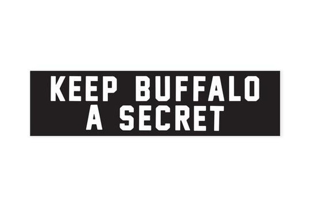 KEEP BUFFALO A SECRET Bumper Sticker