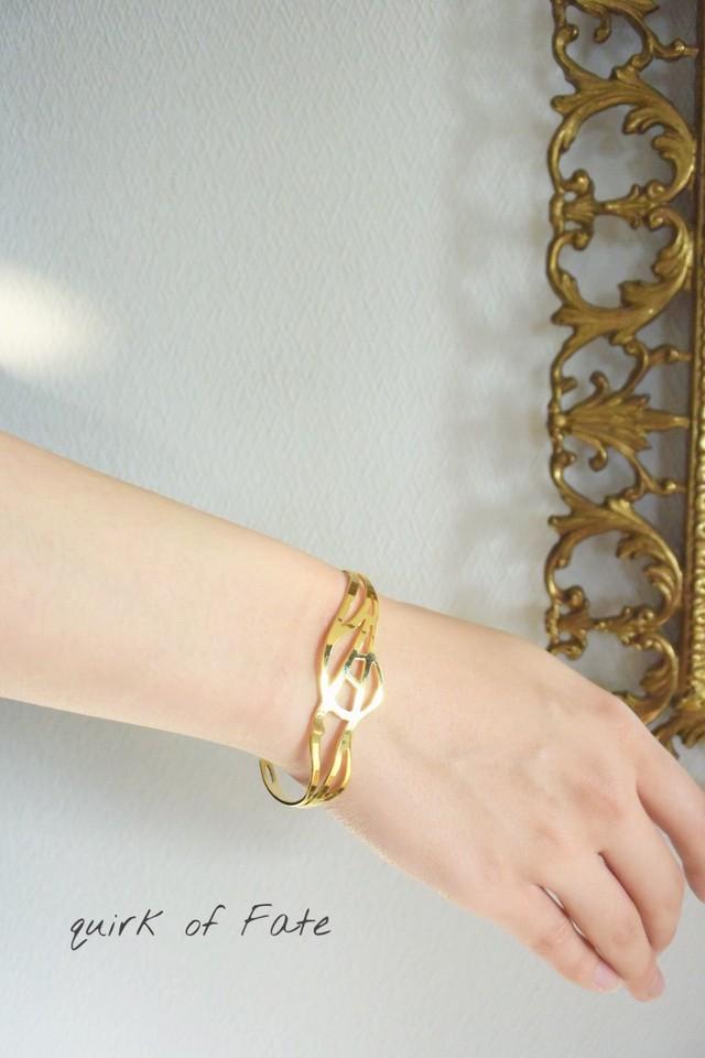 Arabesque Design Bangle 4 gold アラベスクデザインバングル 4 (ゴールド)