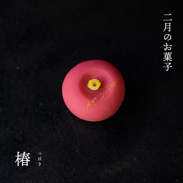 2月の上生菓子:『椿』6個セット