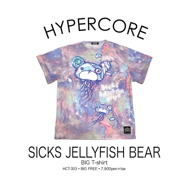 T-303 SICKS JELLYFISH BEAR ビッグTシャツ