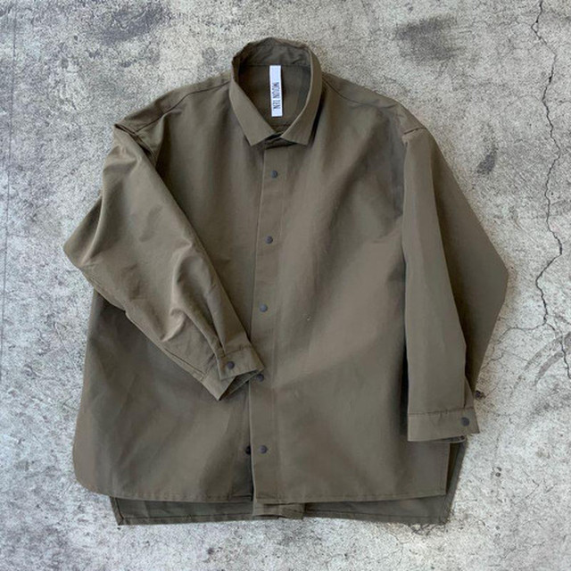 MOUN TEN. MOUNTEN. grosgrain shirts (khaki)[MT202004-a] 110/125/140 1点のみメール便可