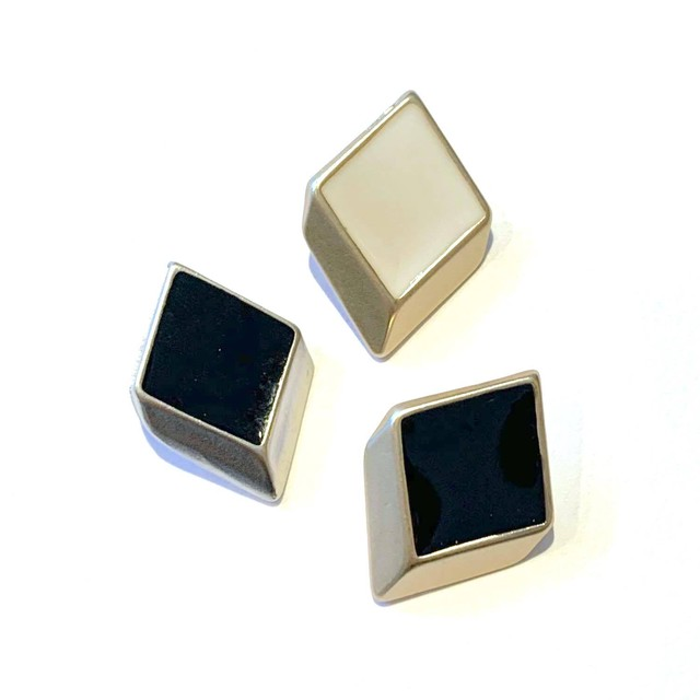 立体菱形つや色Gメタルボタン  *新色追加