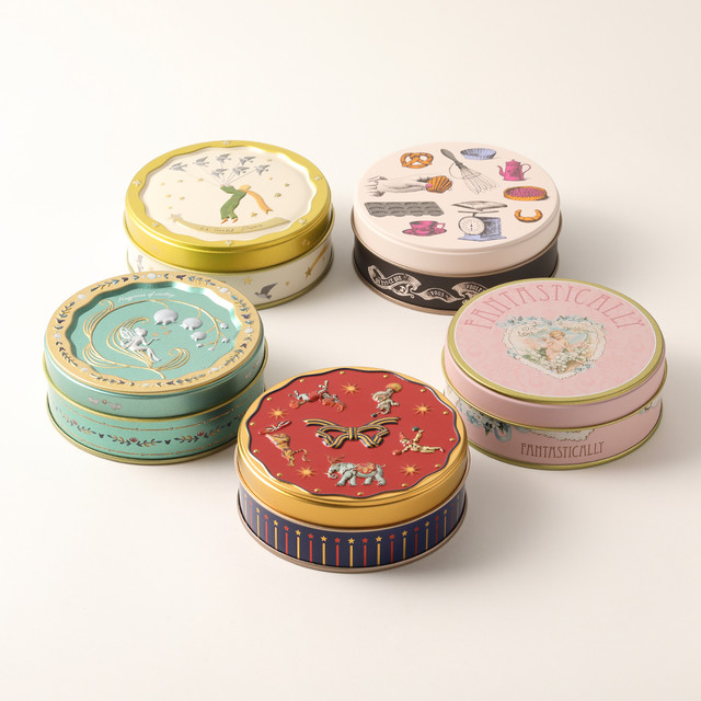 デザイン缶コレクション(丸缶5種類)(常温発送10~3月)