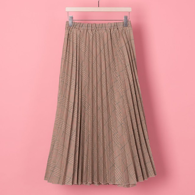 PLEATED TRAD CHECHER(VN1709007)