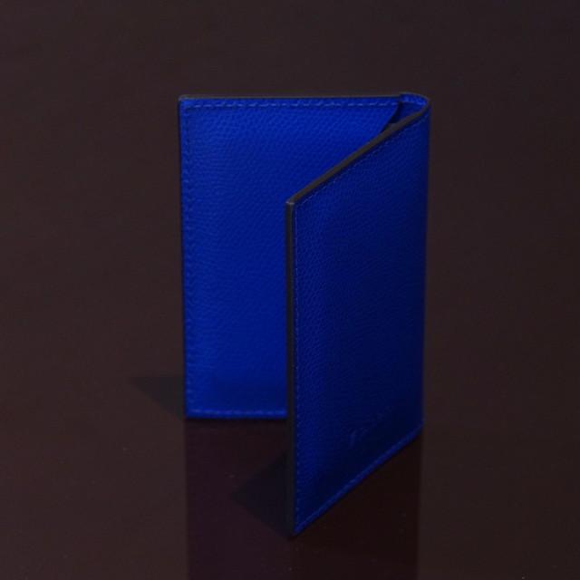 LIVERPOOL E.BLUE / PINETTI DOUBLE BUISINESS CARD HOLDER CREAM(リバプール Eブルー / ピネッティ ダブルビジネスカードホルダー)