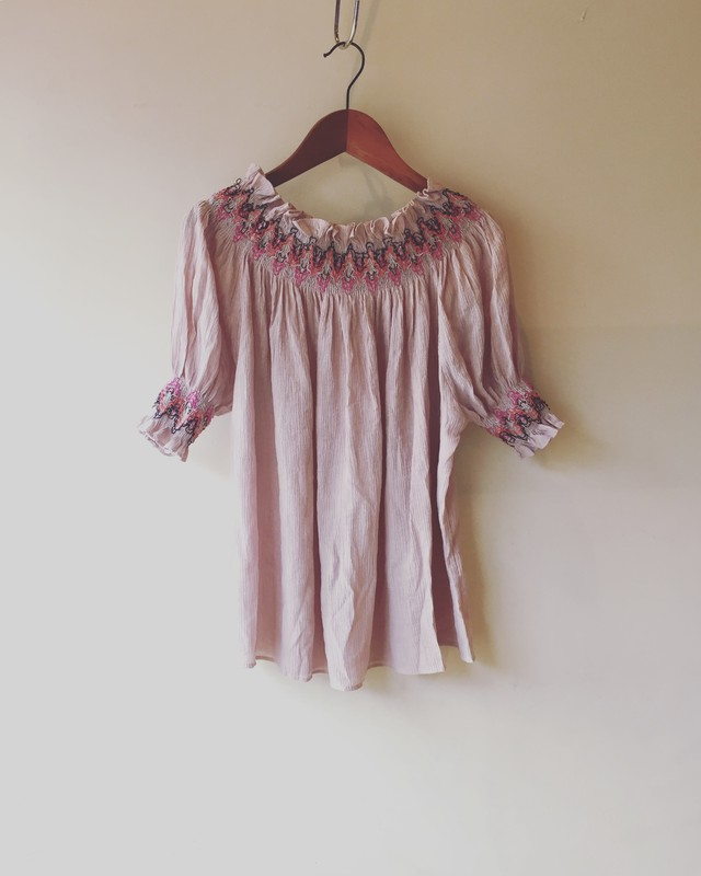 vintage gather tops