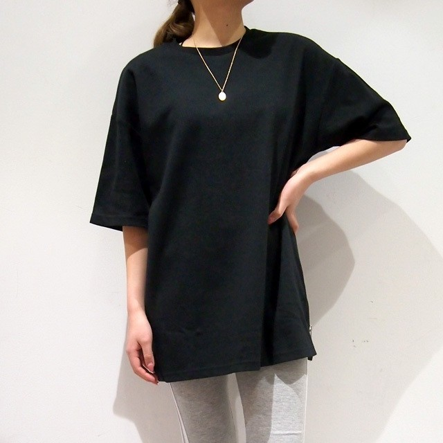 unisex【NEW】BIG SIDE ZIP Tee