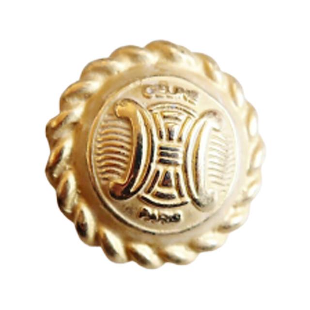 【VINTAGE  CELINE BUTTON】ゴールドフレーム ロゴボタン 24mm L-19020