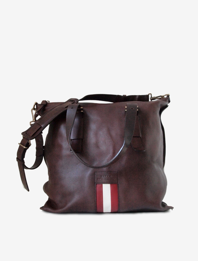 BALLY LETHER SHOULDER BAG