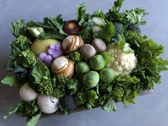 京野菜セットB+果物セット 定期便(4回分)
