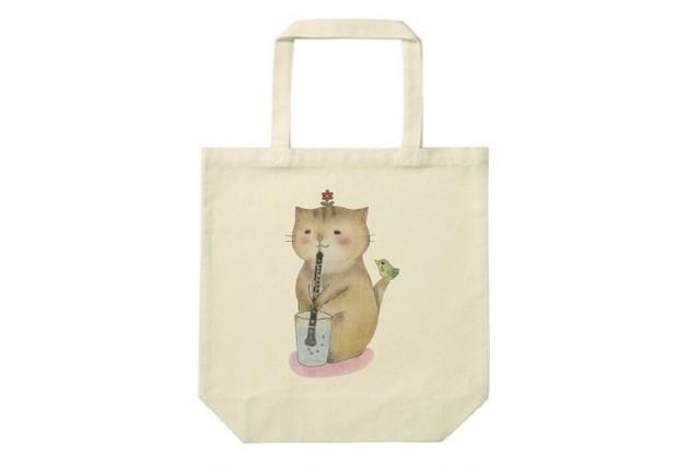 オーボエ猫のトートバッグ