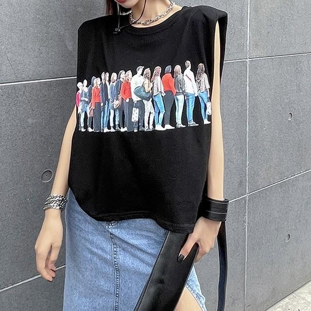 ノースリーブTシャツ   1-096